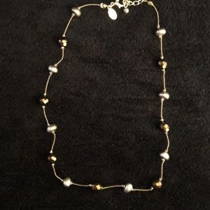 Express Brown Beaded Necklace